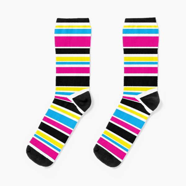 CMYK colored stripes Socks