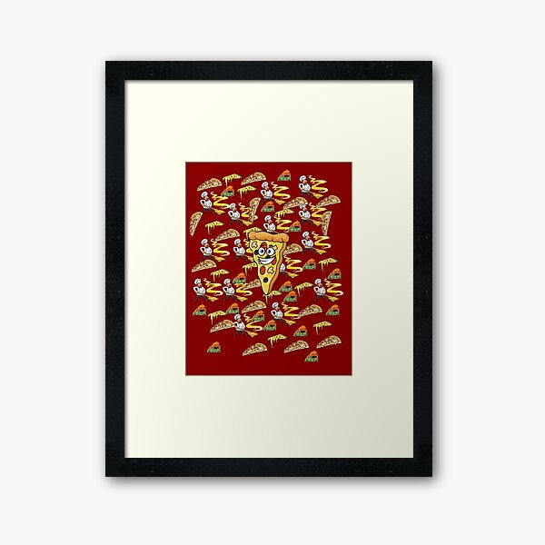 Dont Look For Love Look For Pizza Framed Art Print
