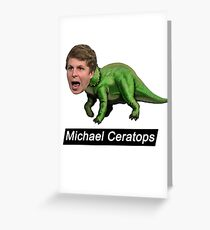 Michael Ceratops Greeting Card