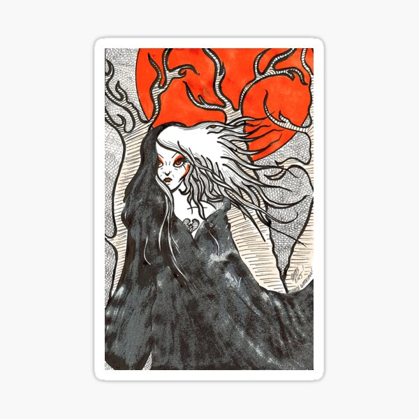 Witch In The Woods Sticker
