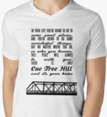 THERE IS ONLY ONE TREE HILL Men's V-Neck T-Shirt