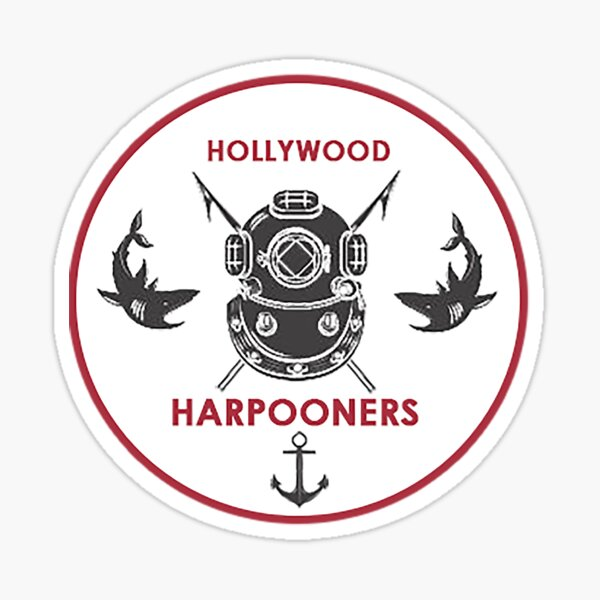 Hollywood Harpooners Minor League Logo (Los Angeles Whalers Affiliate) Sticker