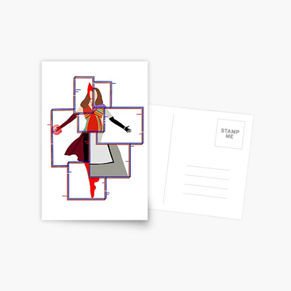 The Many Styles of Wanda Postcard