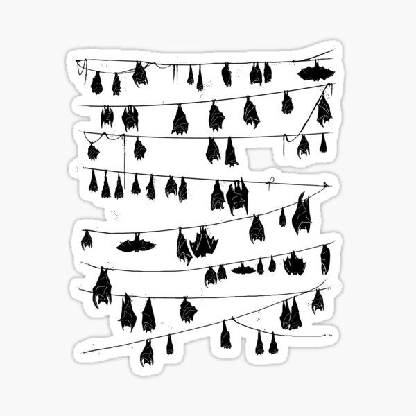 Bat Stripes Sticker