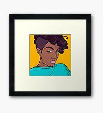Mulatto girl vector print Framed Print