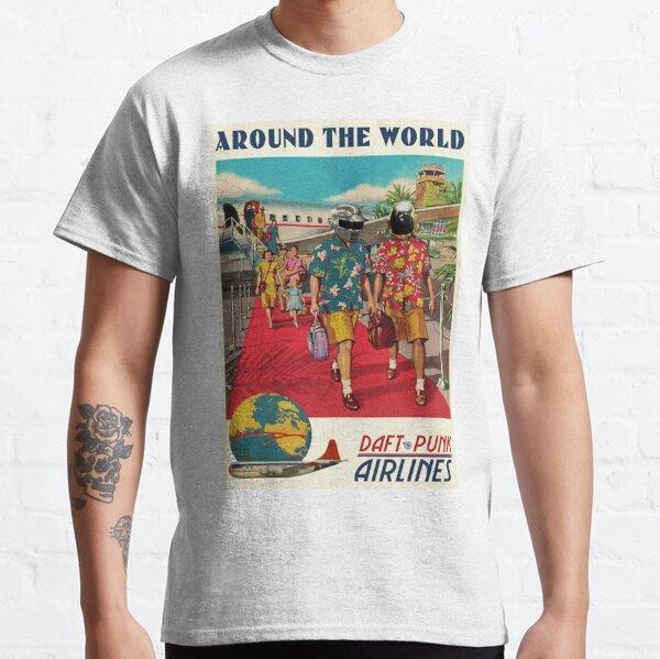 Daft Punk - Clásico de la vuelta al mundo Camiseta clásica
