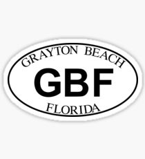 GRAYTON BEACH FLORIDA EURO OVAL Sticker