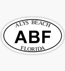 ALYS BEACH FLORIDA EURO OVAL Sticker