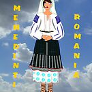 A Mehedinti Romanian Female Old Fashioned Peasant Costume by Dennis Melling
