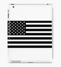 usa black and white iPad Case/Skin