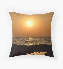 Sunrise in Marsa Alam Throw Pillow