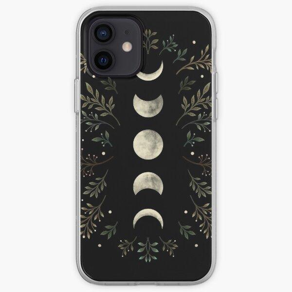 Jardín iluminado por la luna-verde oliva Funda blanda para iPhone