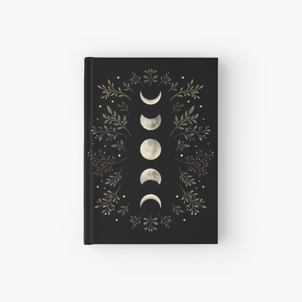 Moonlit Garden-Olive Green Hardcover Journal