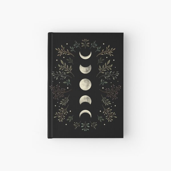 Moonlit Garden-Olive Green Hardcover Journal