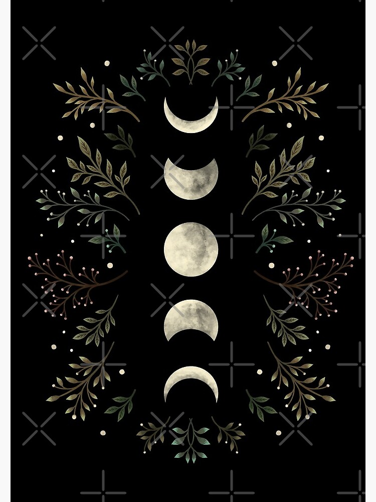 Moonlit Garden-Olive Green by episodicDrawing