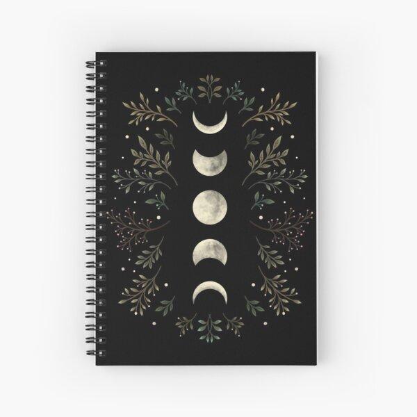 Moonlit Garden-Olive Green Spiral Notebook
