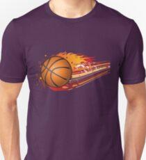 Basketball in fire T-Shirt