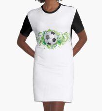 Dynamic football design Graphic T-Shirt Dress