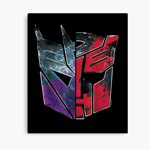 Transformers-War-For-Cybertron-Decepticon-Autobot-Split Canvas Print