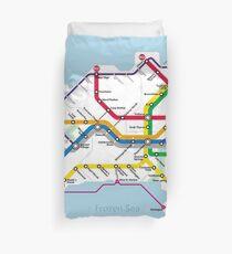Azeroth - Northrend Routemap Duvet Cover