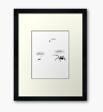 Face Off Framed Print