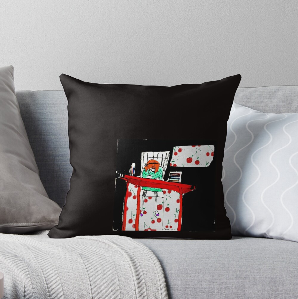 I want to write about silence! Throw Pillow