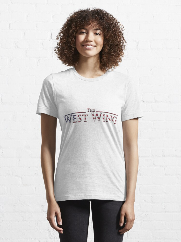 Alternate view of The West Wing Logo with American Flag Design Essential T-Shirt