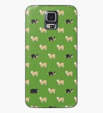 Come Bye - Tri-color dog and white sheep Case/Skin for Samsung Galaxy