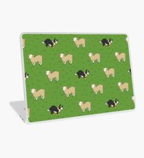 Come Bye - Tri-color dog and white sheep Laptop Skin