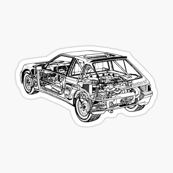 Peugeot 205 Turbo 16 Sticker