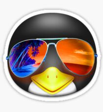 PENGUIN EMOJI WEARING SUNGLASSES Sticker