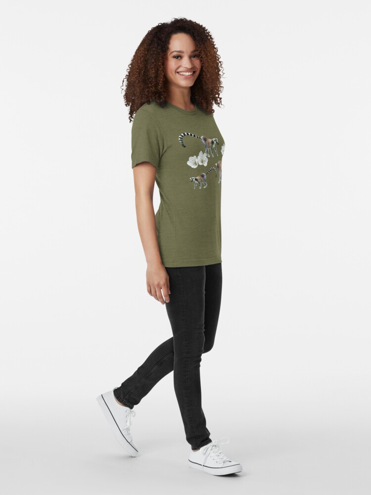 Alternate view of Lemur love Tri-blend T-Shirt