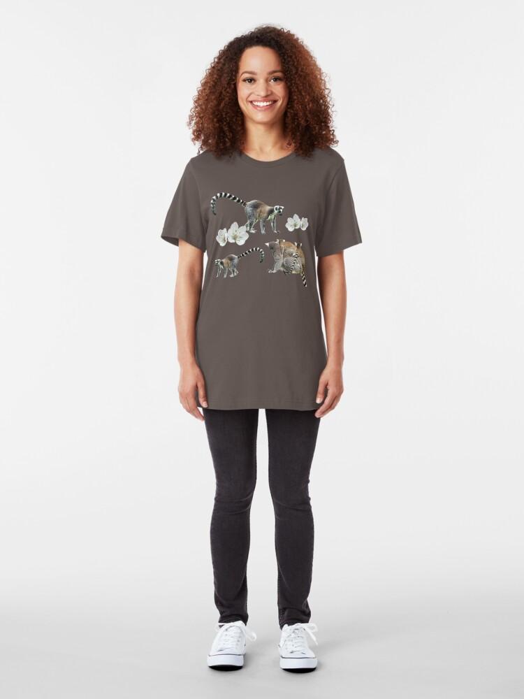 Alternate view of Lemur love Slim Fit T-Shirt