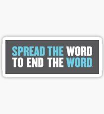 Verbreite das Wort, um das Wort zu beenden Sticker