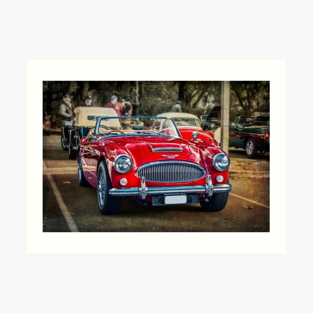 Red Austin Healey 3000 MkIII Art Print