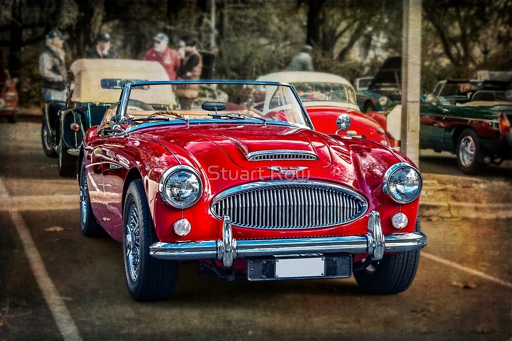 Red Austin Healey 3000 MkIII by Stuart Row
