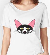 Tuxedo Cat Women's Relaxed Fit T-Shirt