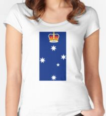 State Badge of Victoria Women's Fitted Scoop T-Shirt