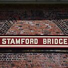 Stamford Bridge - Station Sign by Richard Winskill