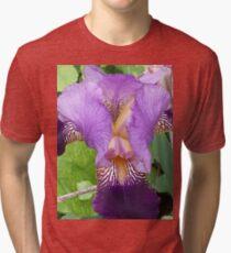 Close Up- Purple Iris Tri-blend T-Shirt
