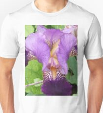 Close Up- Purple Iris Unisex T-Shirt