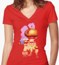 Arabian Princess Character Inspired Home Women's Fitted V-Neck T-Shirt