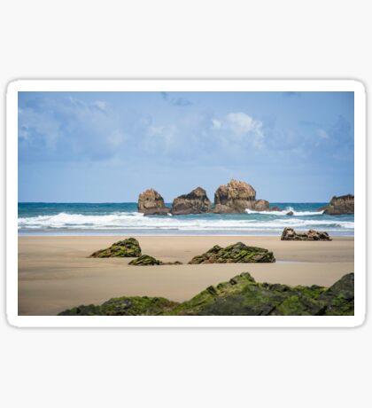 Rocks at the sand beach Sticker