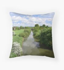 Stamford Bridge - River Derwent Throw Pillow