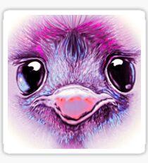 Pink Emu (002) Sticker