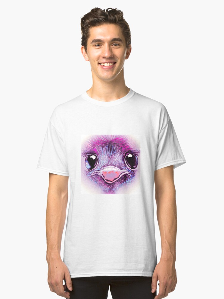 Pink Emu (002) Classic T-Shirt Front