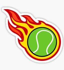 Tennis Ball On Fire Sticker