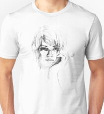 Woman with cigarette Unisex T-Shirt