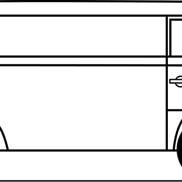 Splitscreen Transporter side view line drawing by diamondhell