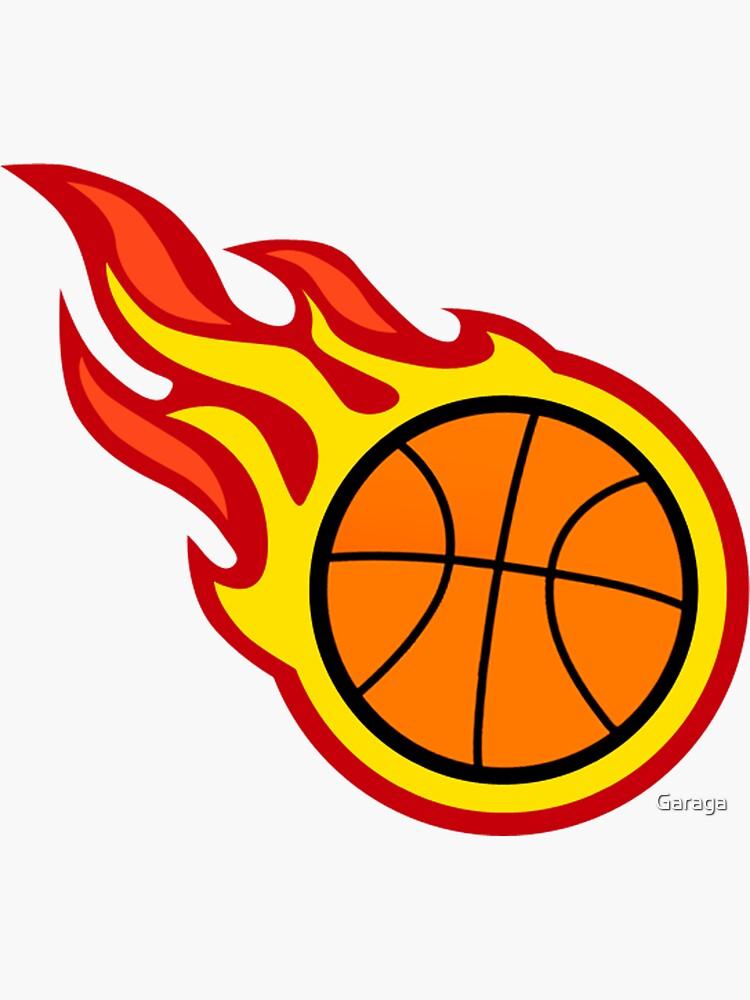 Basketball On Fire by Garaga